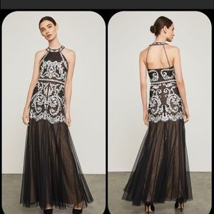 NWT!  BCBG Maxazria Formal Embroidered Gown